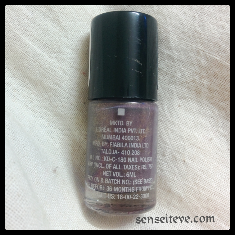 Maybelline Colorshow Nailpaint Burried Treasure Price and Shelf life