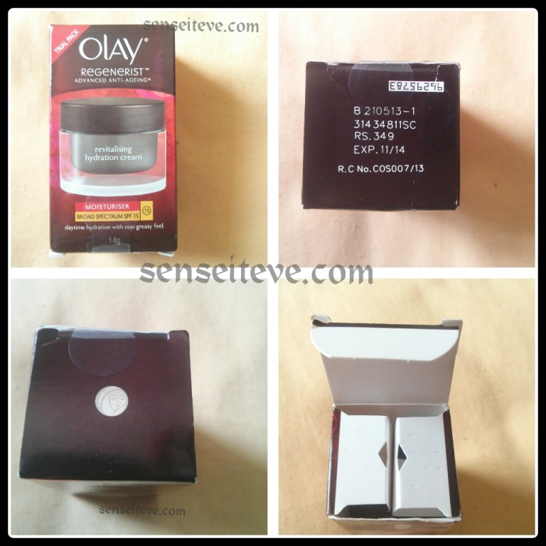 Olay Regenerist Revitalising Hydration Cream Moisturiser SPF15 Review