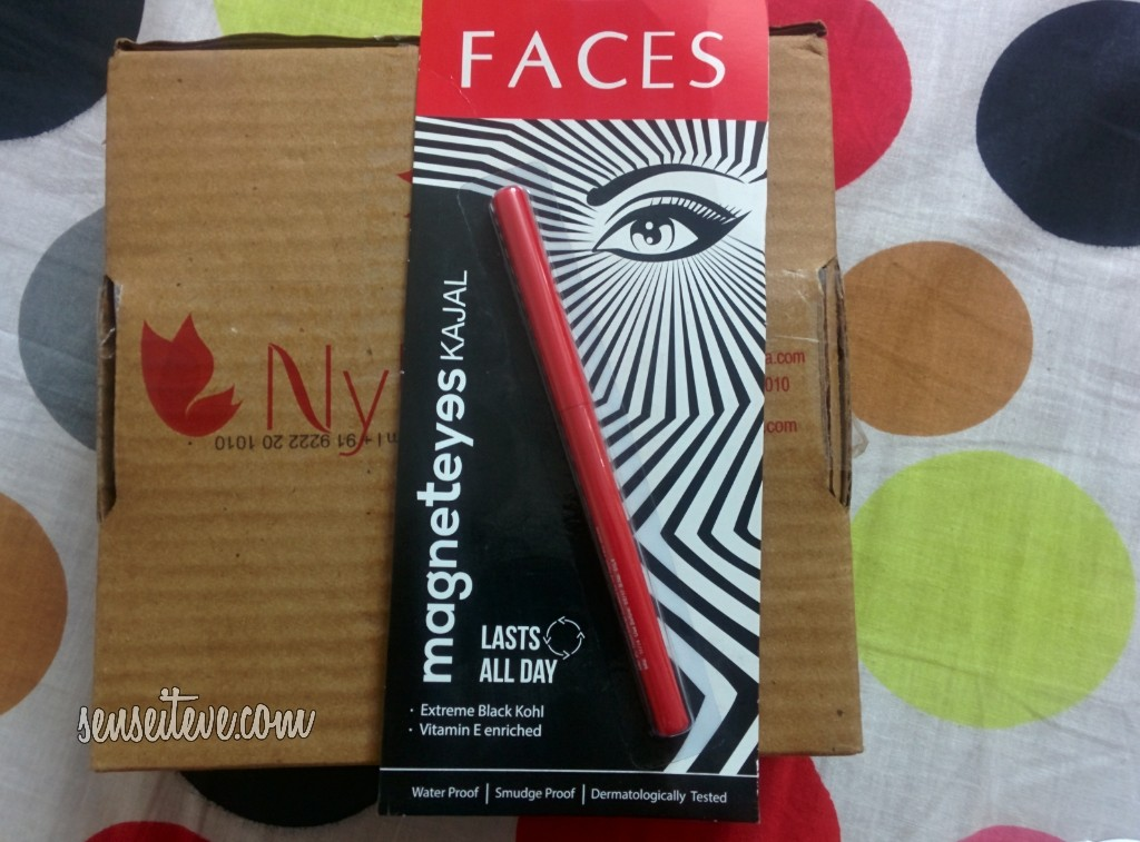 My Nykaa Mini Haul_Faces Magneteyes Kajal
