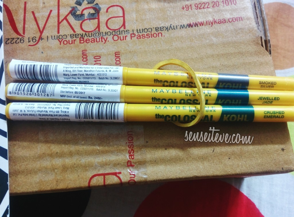 My Nykaa Mini Haul_Maybelline The colossal Kohl Kajal