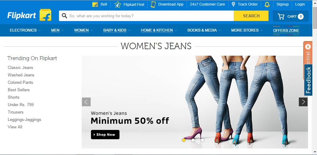 Top 5 websites to buy jeans online in india for Top selling sites online