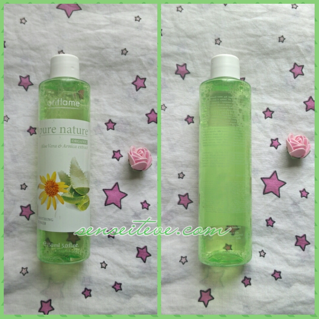 Oriflame Pure Nature Soothing Toner with Aloe vera & Arnica Extracts Review