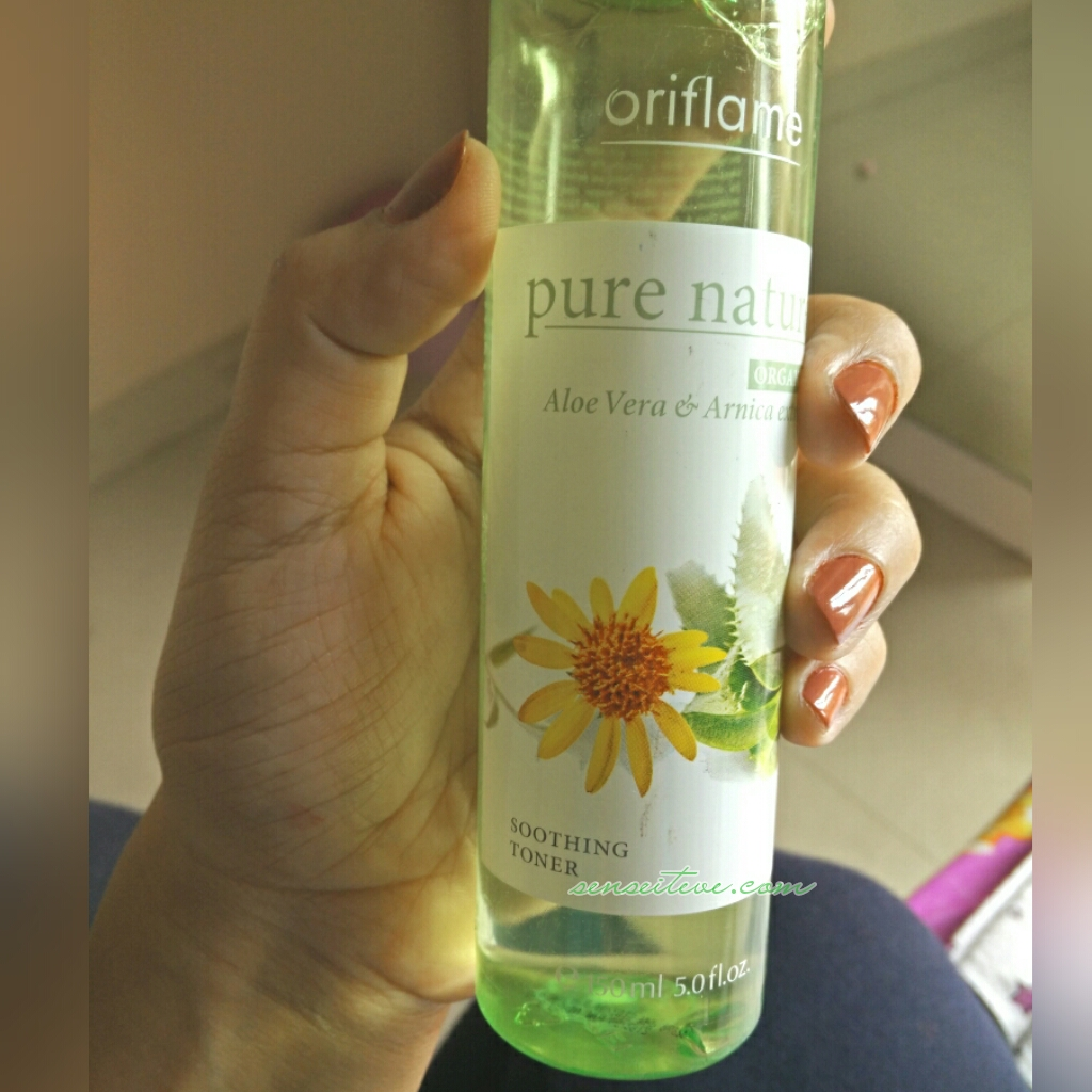 Oriflame Pure Nature Soothing Toner with Aloe vera & Arnica Extracts