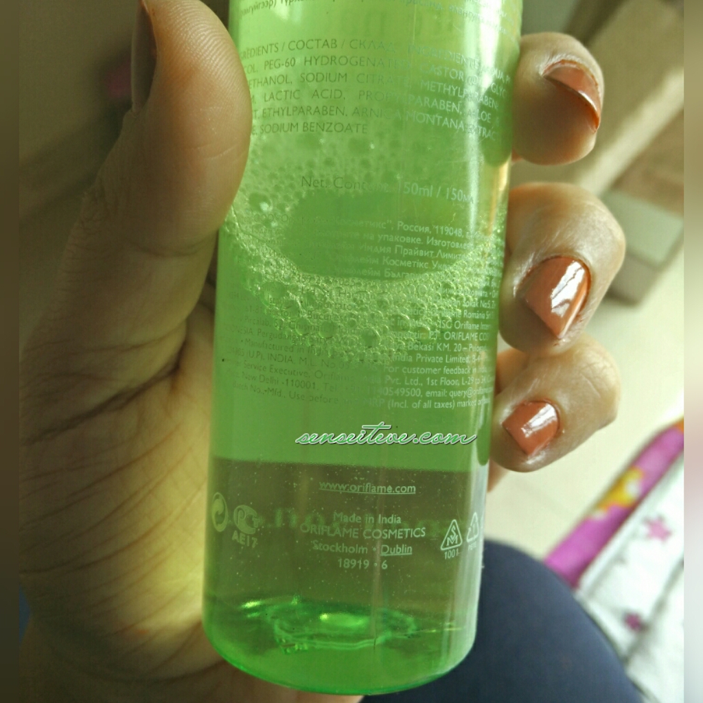 Oriflame Pure Nature Soothing Toner with Aloe vera & Arnica Extracts_Product Code