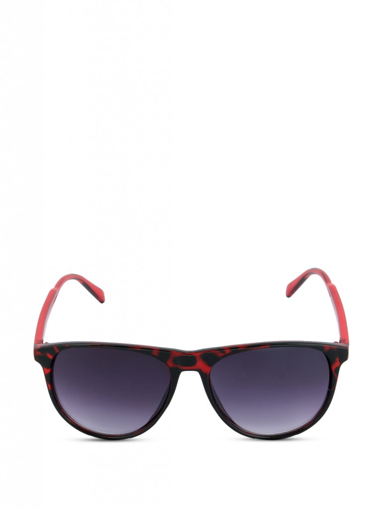 red animal print wayfarers