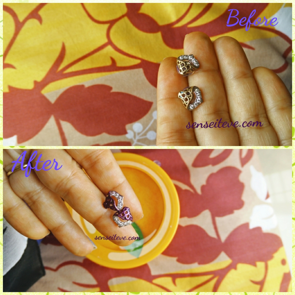DIY Give your Dull Earrings a Makeover_Before after