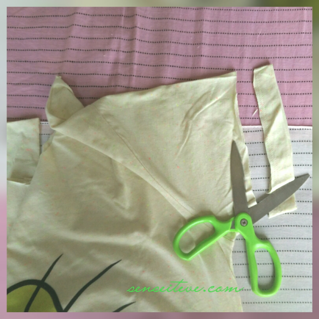 DIY Make Your Regular T-shirt Chic_Step 2