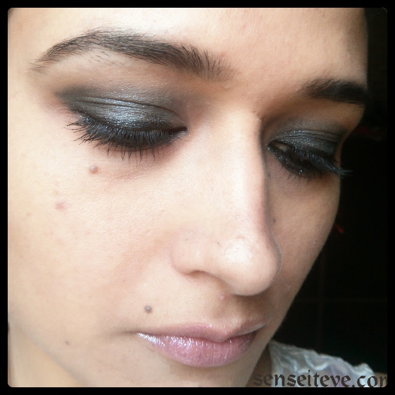 Blue Smokey Eyes with pinky nude lips