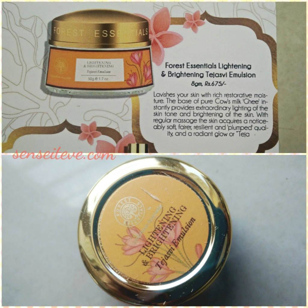 My Envy Box Feb16_Forest Essentials Lightening & Brightening Tejasvi Emulsion