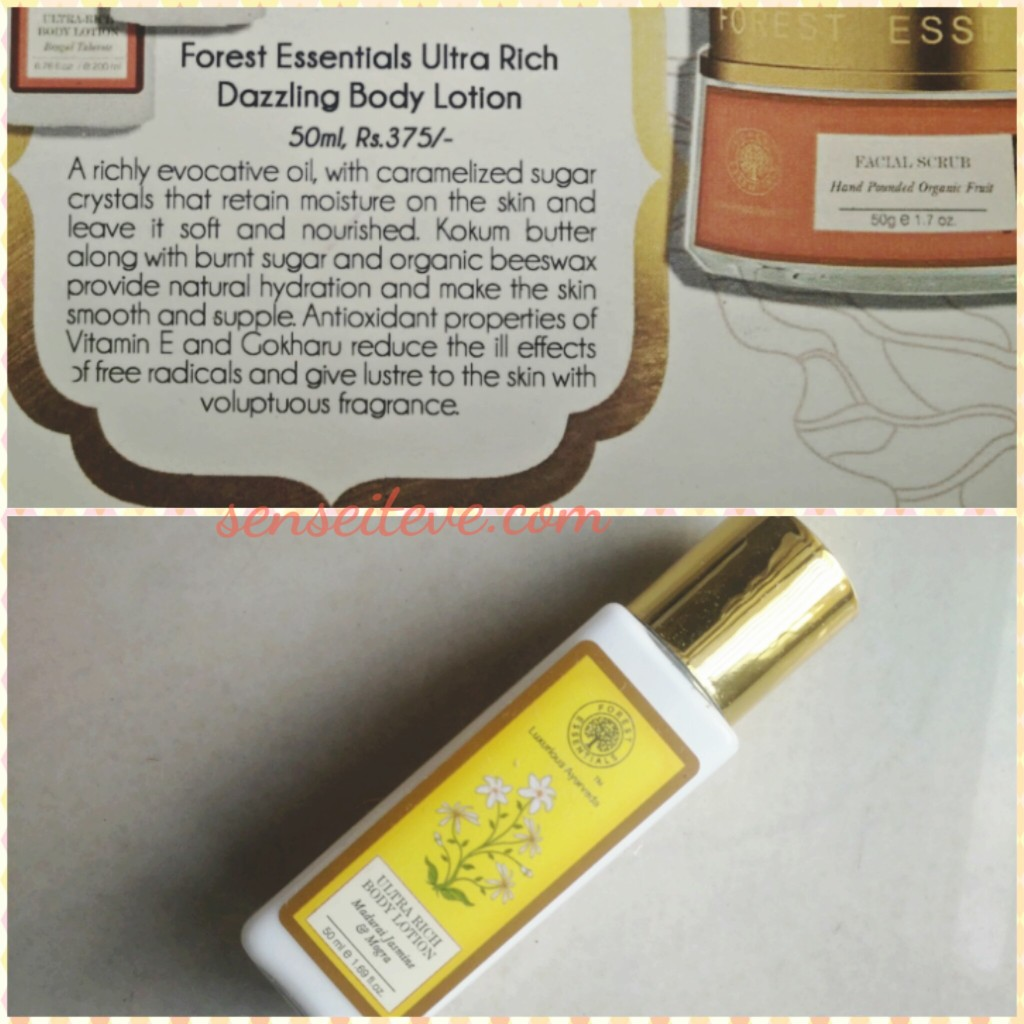 My Envy Box Feb16_Forest Essentials Ultra Rich Dazzling Body Lotion