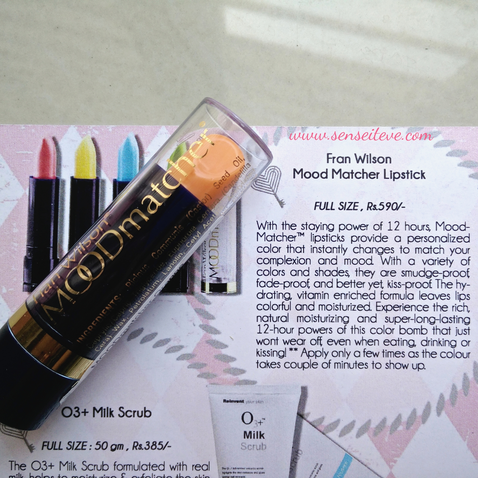 My Envy Box April 2016_Fran Wilson Mood Matcher Lipstick Orange