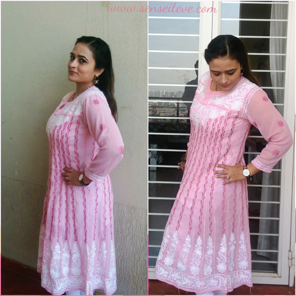Pretty in Pink ft Lakhnawi Chicken Kurta