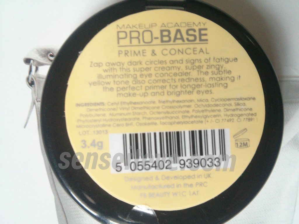 Makeup Academy Pro Base prime & Conceal Review