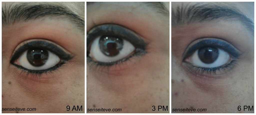 Lakme Absolute Forever Silk Eyeliner Blacklast Swatches