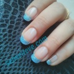 NOTD Blue Moon_modified french manicure