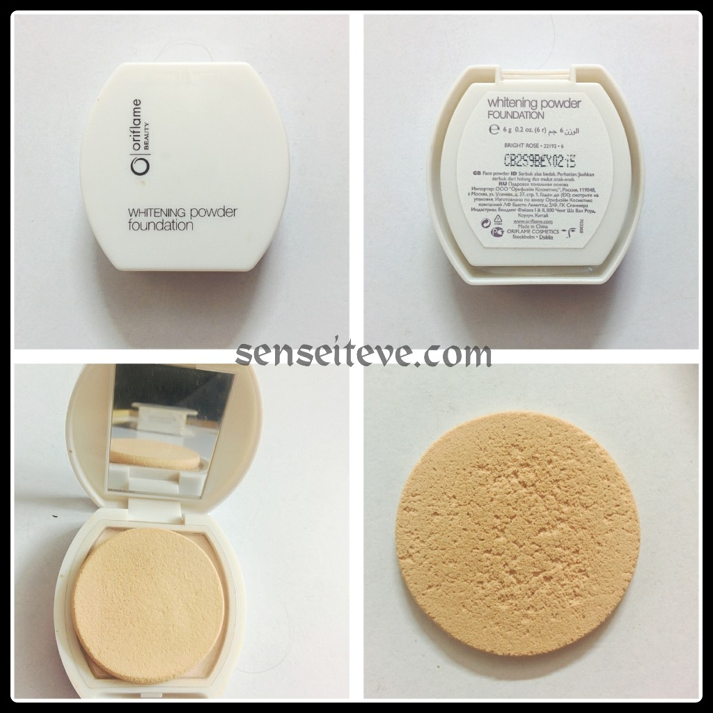 Oriflame Beauty Whitening Powder Foundation Packaging