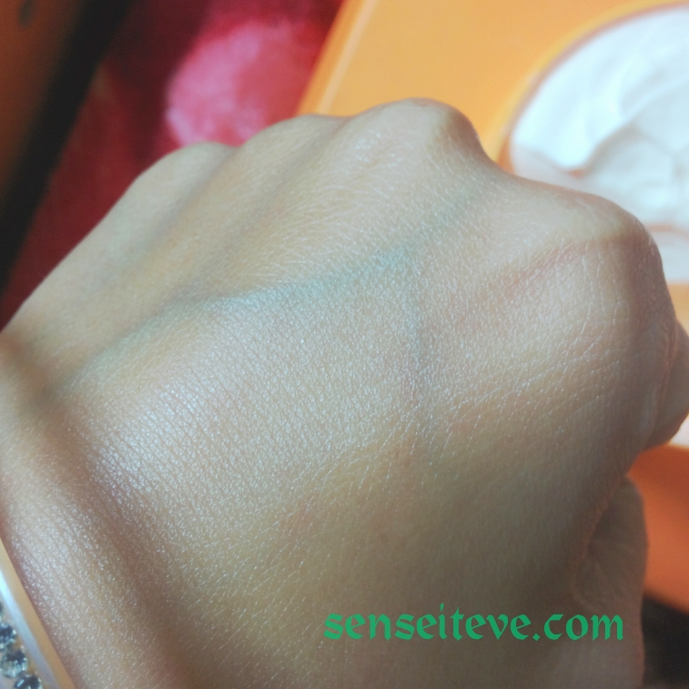 The Body Shop Satsuma Body Butter Swatch Blended