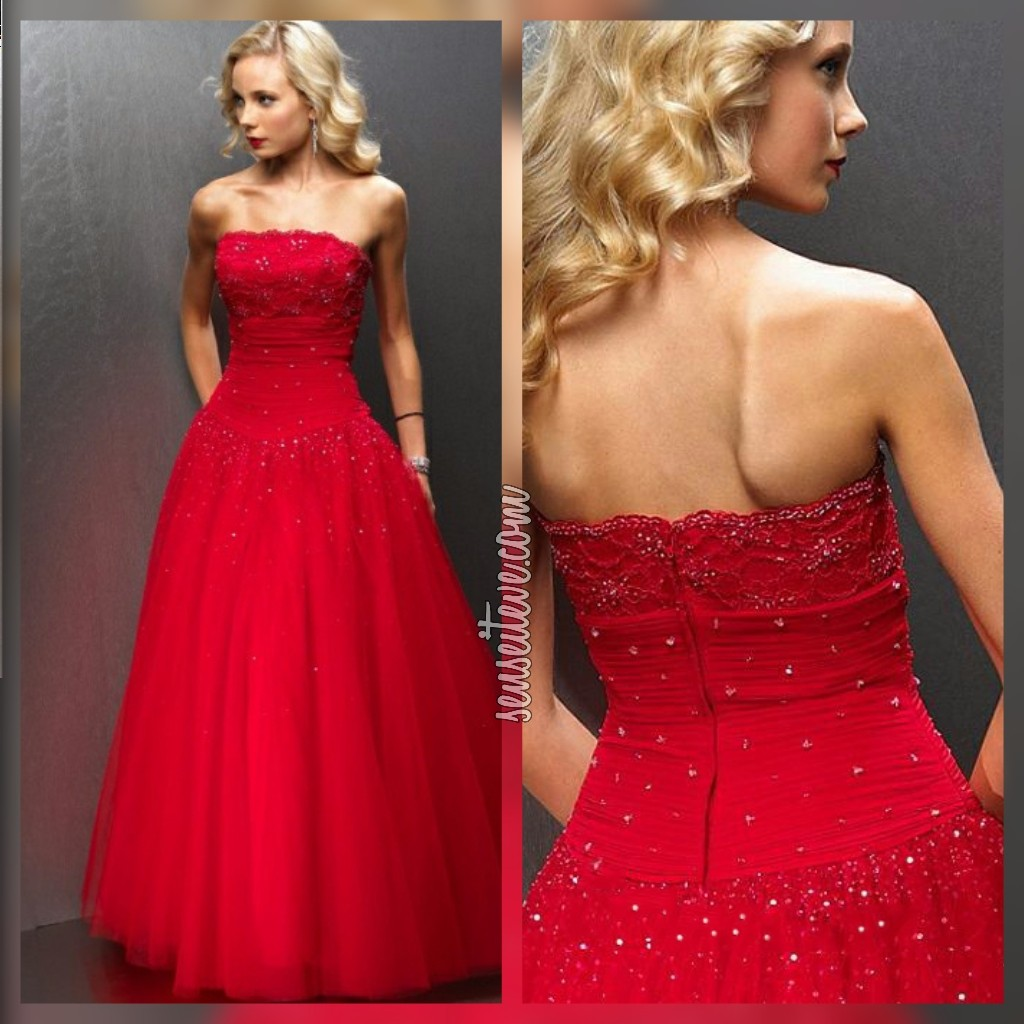 Red Prom Dress_Cindrella Style
