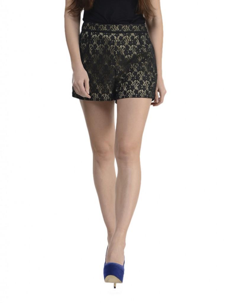 black lacy shorts