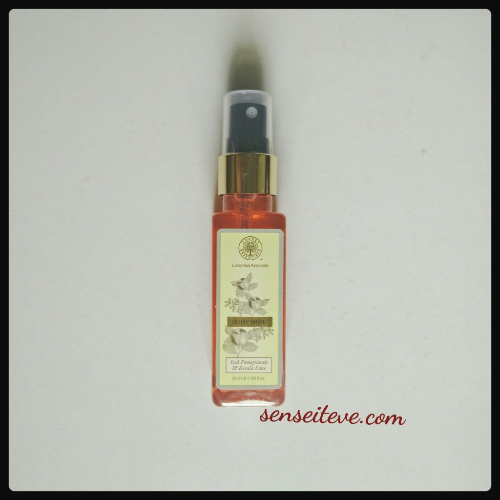 Forrest Essential Body Mist_ Iced Pomegrante and Kerala Lime