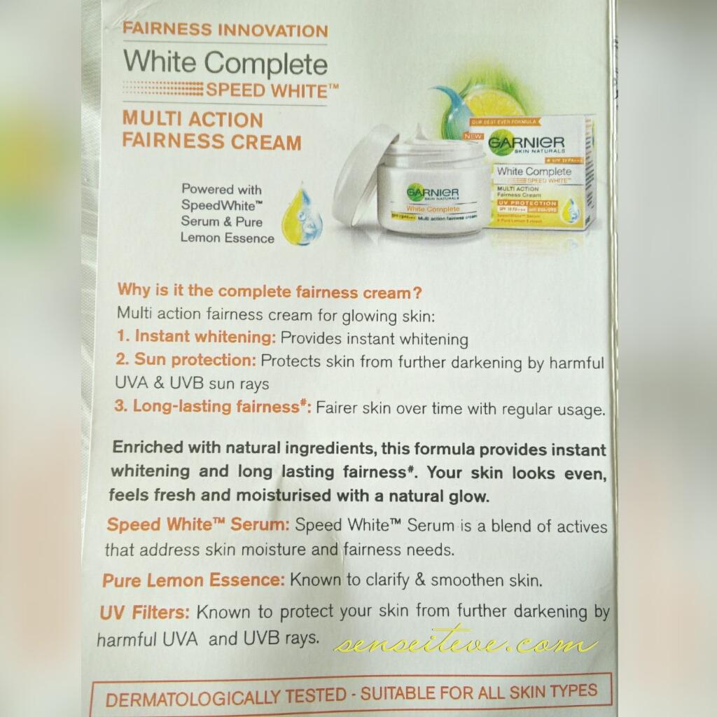 Garnier White Complete Multi-action Fairness Cream