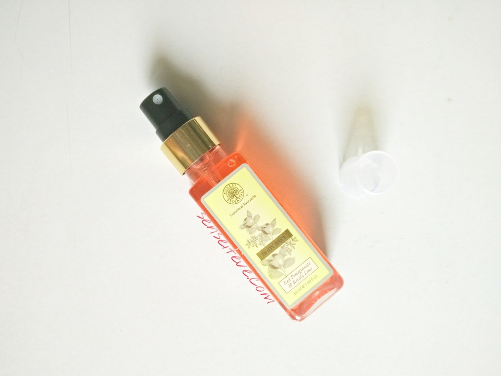 Forrest Essentials Body Mist Iced Pomegranate & Kerala Lime