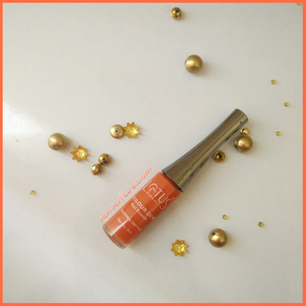 Lotus Herbals Color Dew Nail Enamel Orange Alert 3