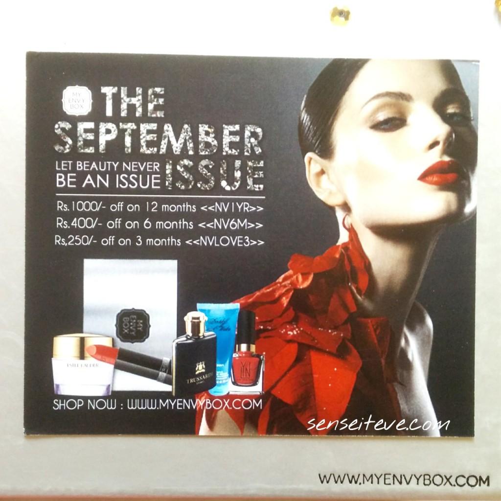 My Envy Box September 2015 Theme