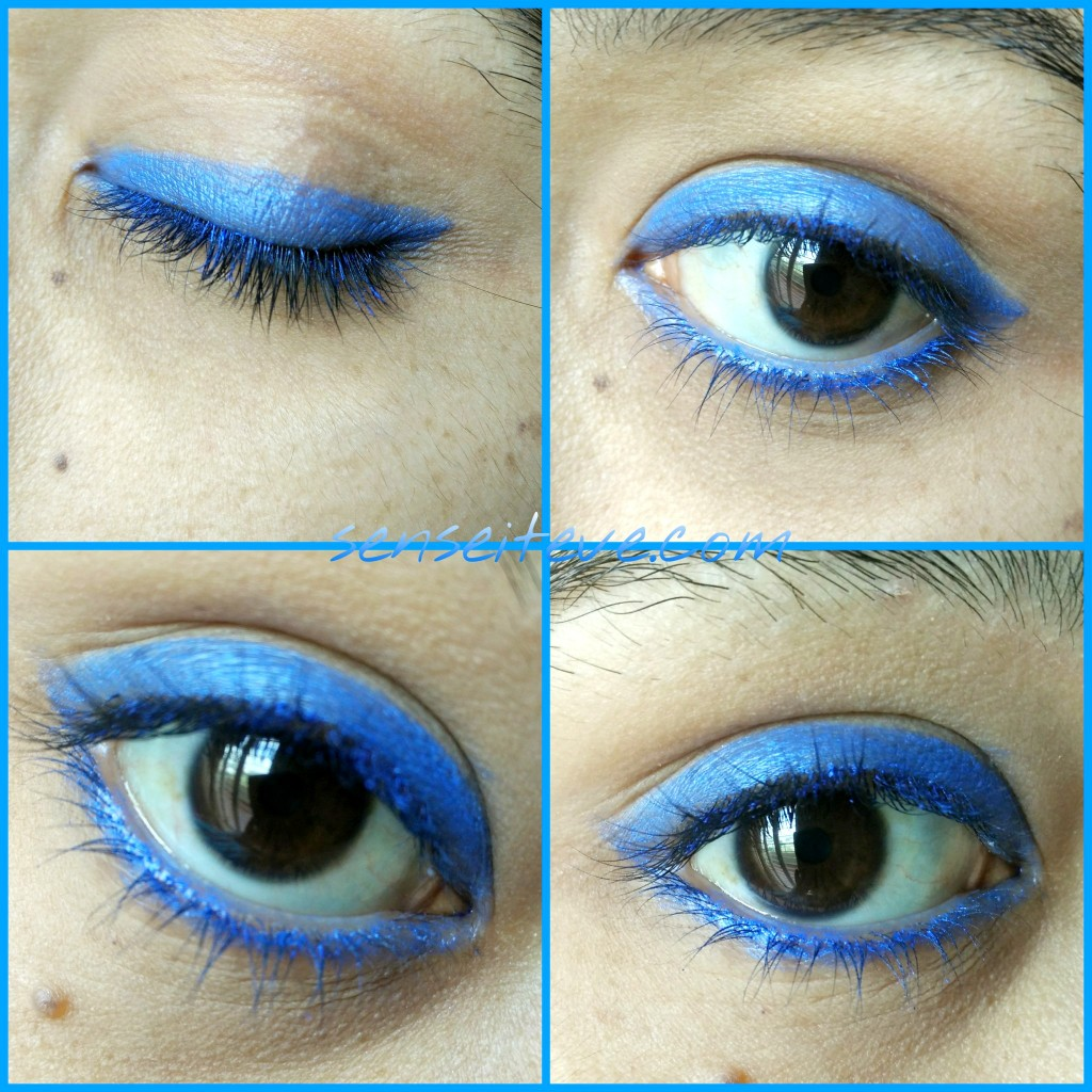 Soultree Ayurvedic Kajal True Blue Swatches