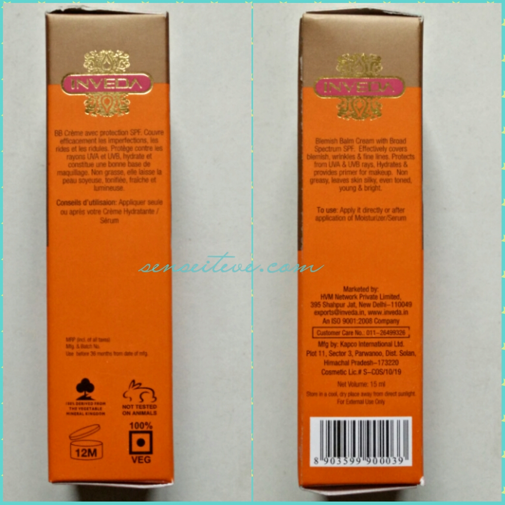 Inveda 8 in 1 BB Cream Information