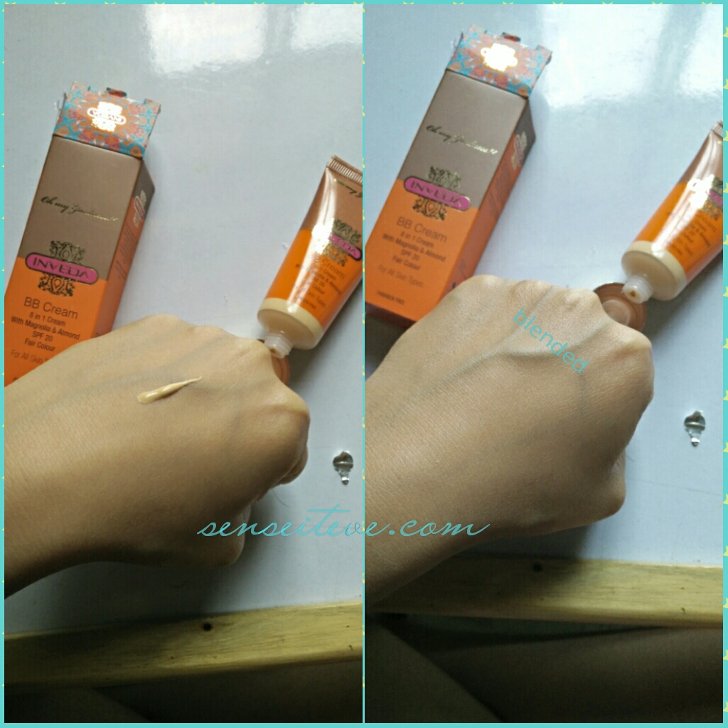 Inveda 8 in 1 BB Cream Swatch
