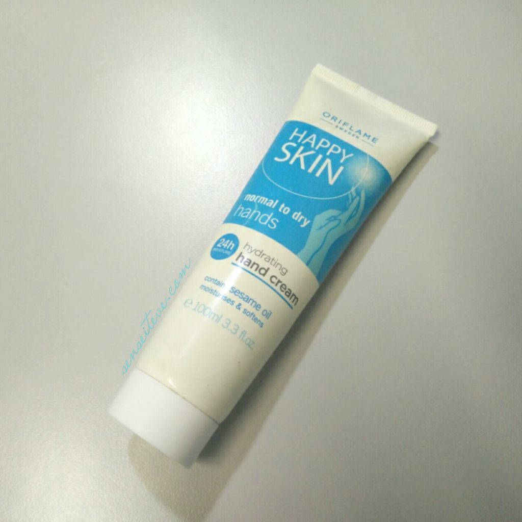 Oriflame Happy Skin Hydrating Hand Cream for Normal to Dry Hands Review