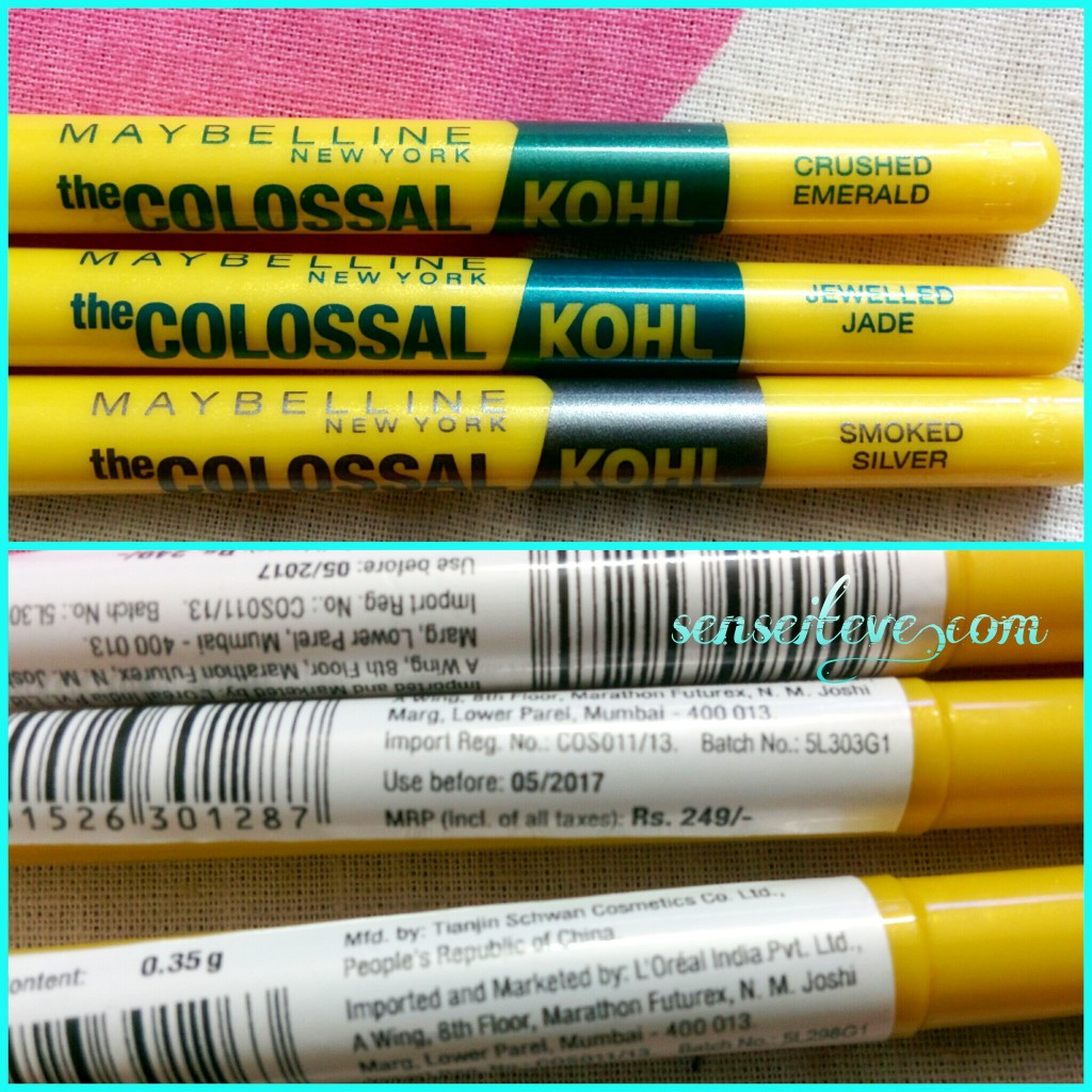 Maybelline the Colossal Kohl Price