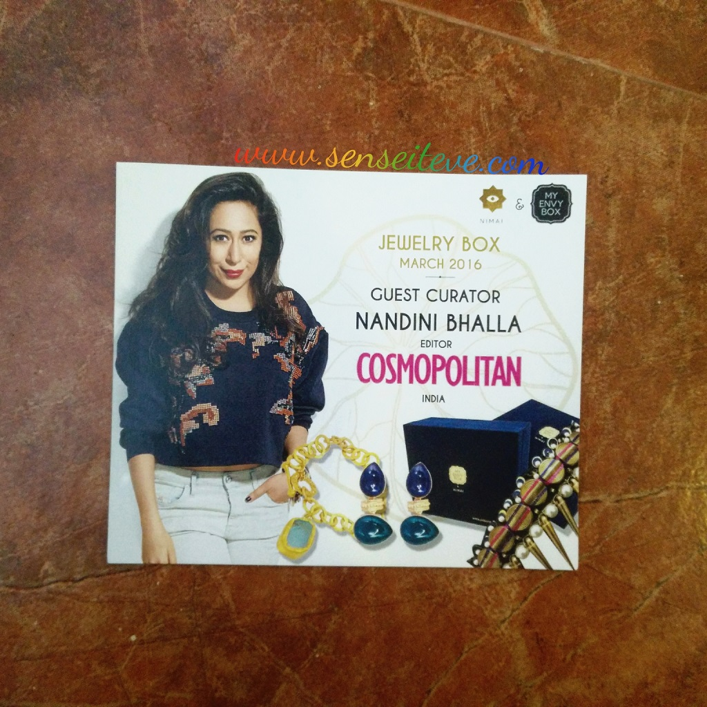 My Envy Box March 2016_Jewelry Box Promotional discount