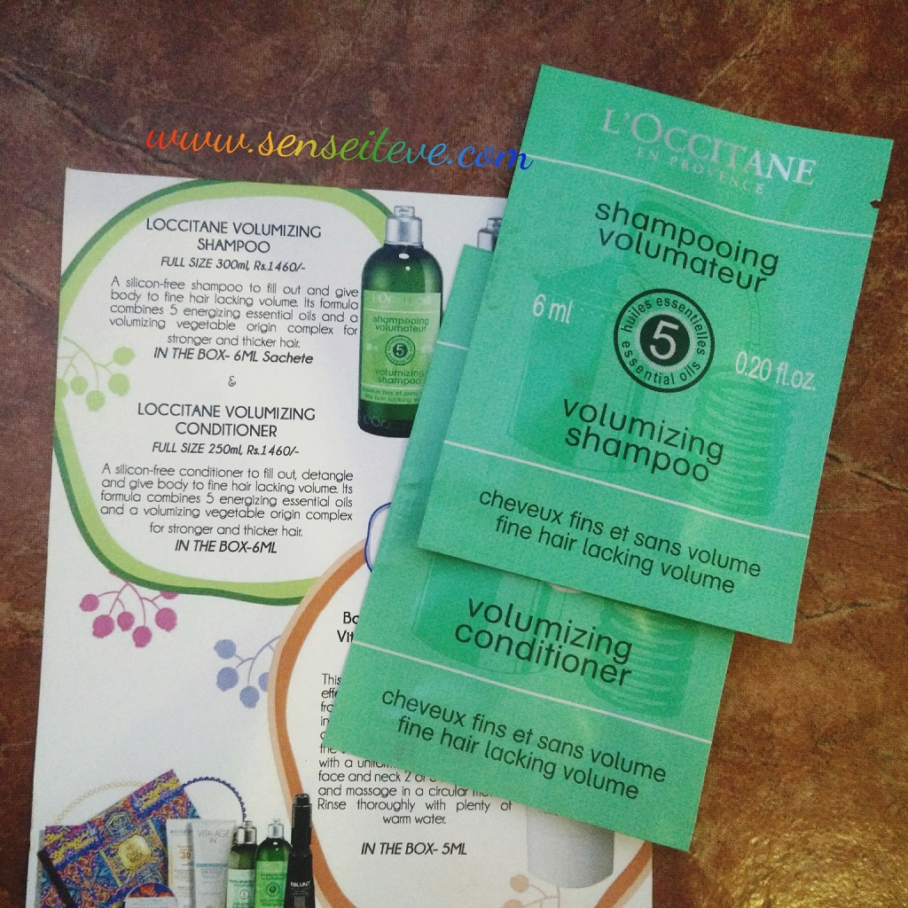 My Envy Box March 2016_L'occitane Volumizing Shampoo & Conditioner