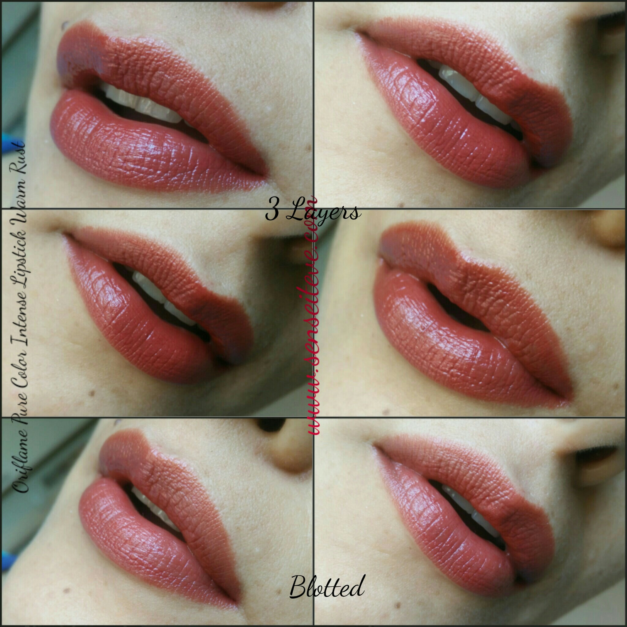 Oriflame Pure Color Intense Lipstick Warm Rust Swatches 26659