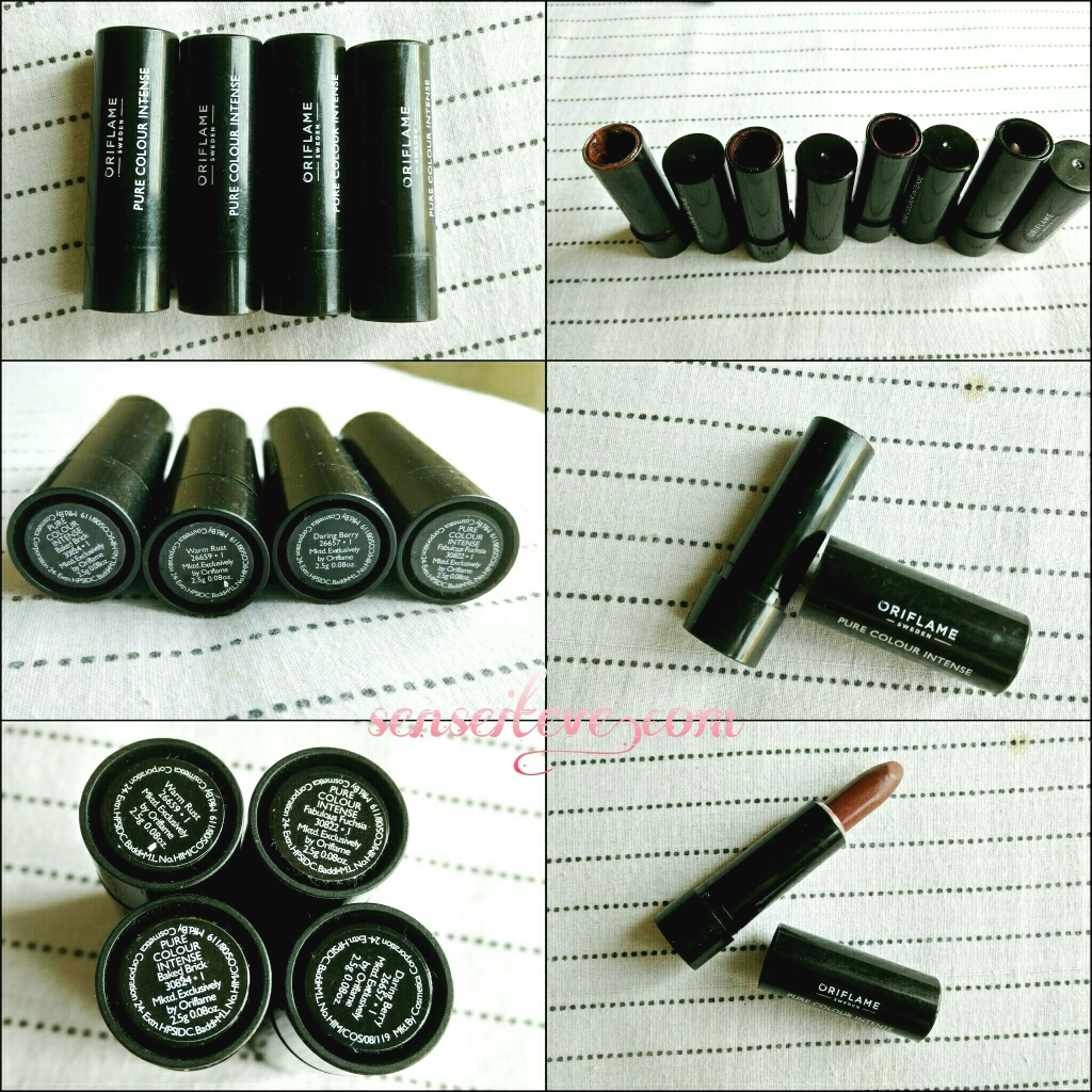 Oriflame Pure Color Intense Lipsticks Review and Swatches
