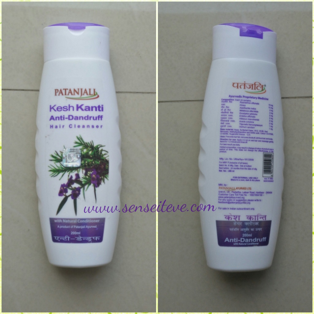 Patanjali Kesh Kanti Anti-Dandruff Hair Cleanser Packaging