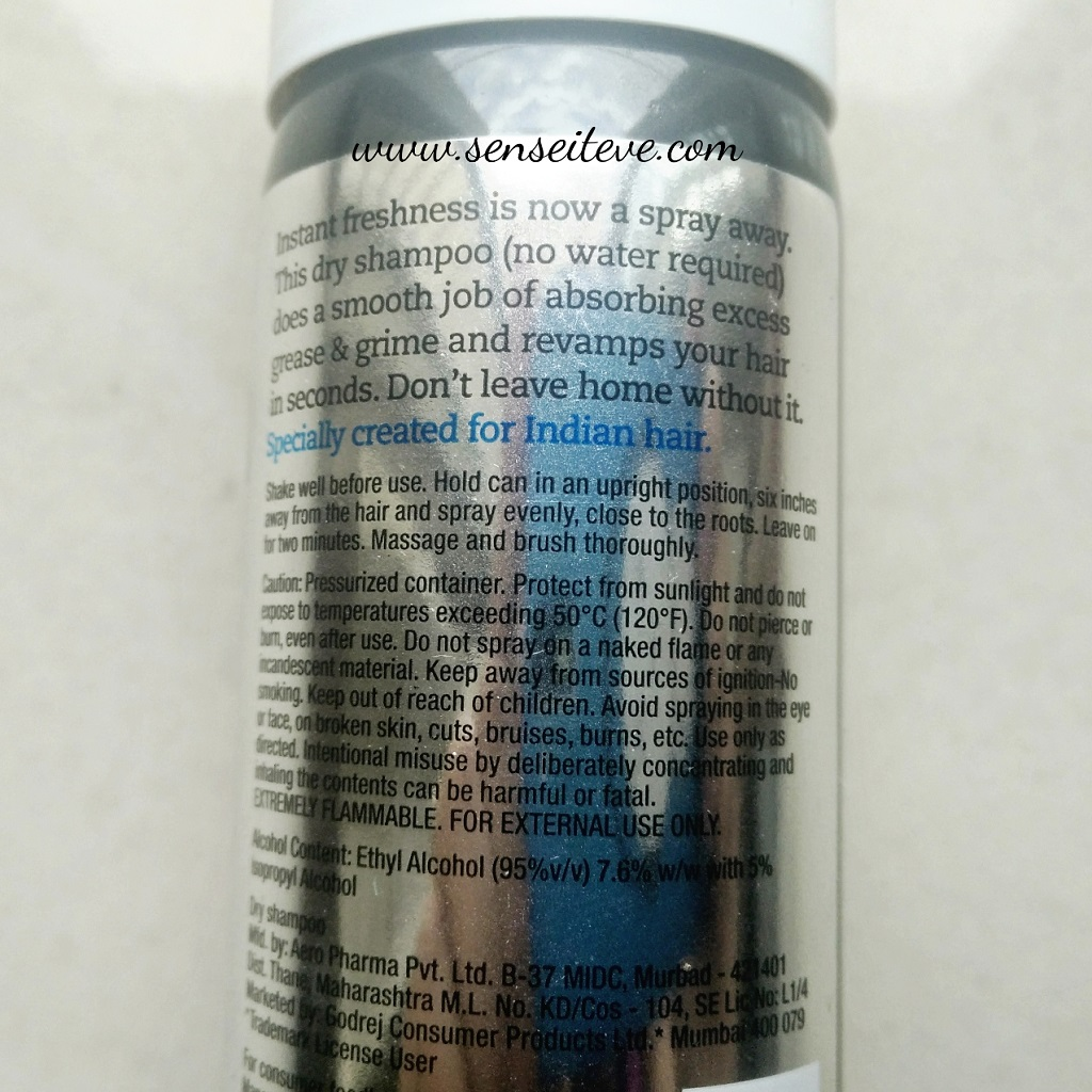 BBlunt Back to Life Dry Shampoo Ingredients