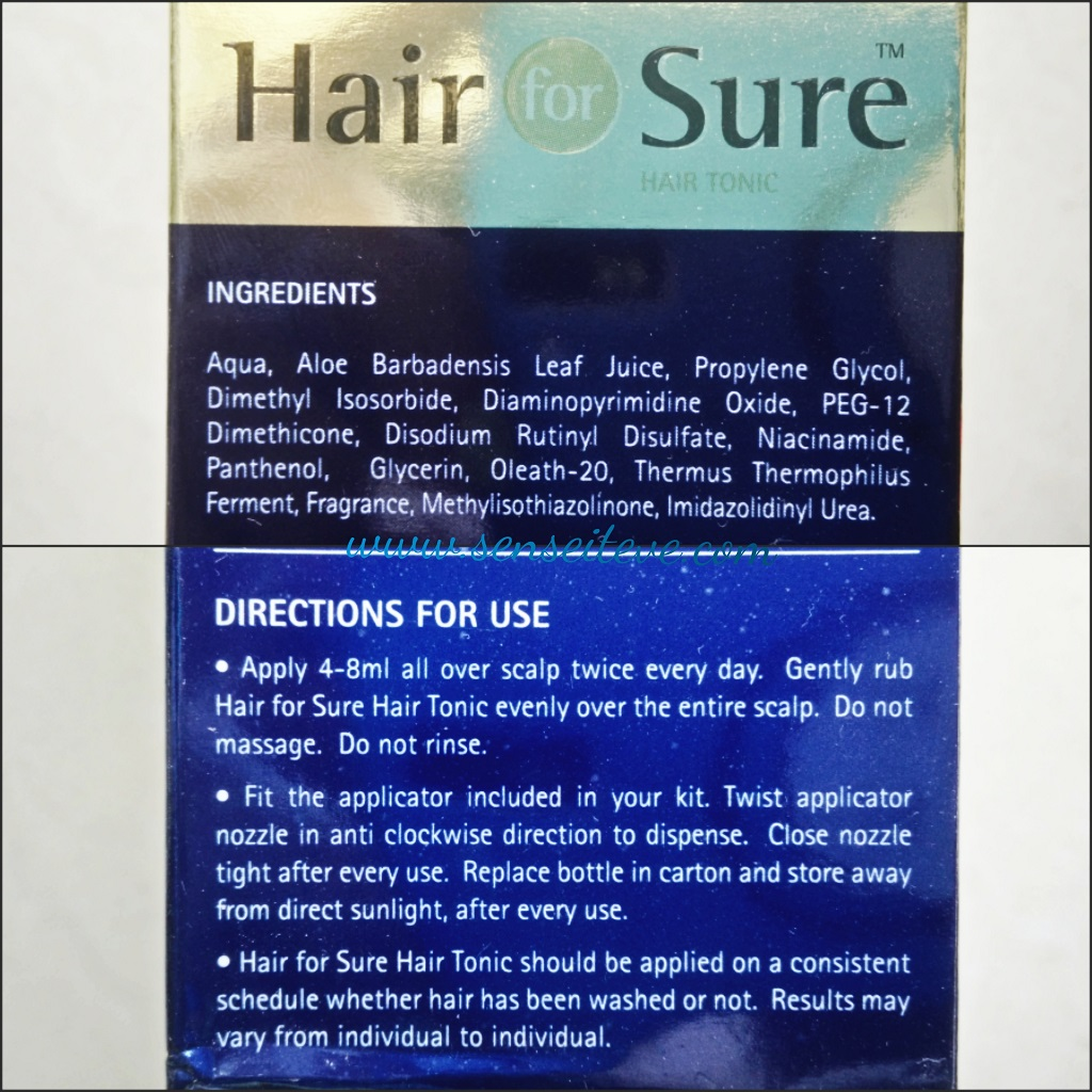 Hair for Sure Hair Tonic Ingredients & How to use