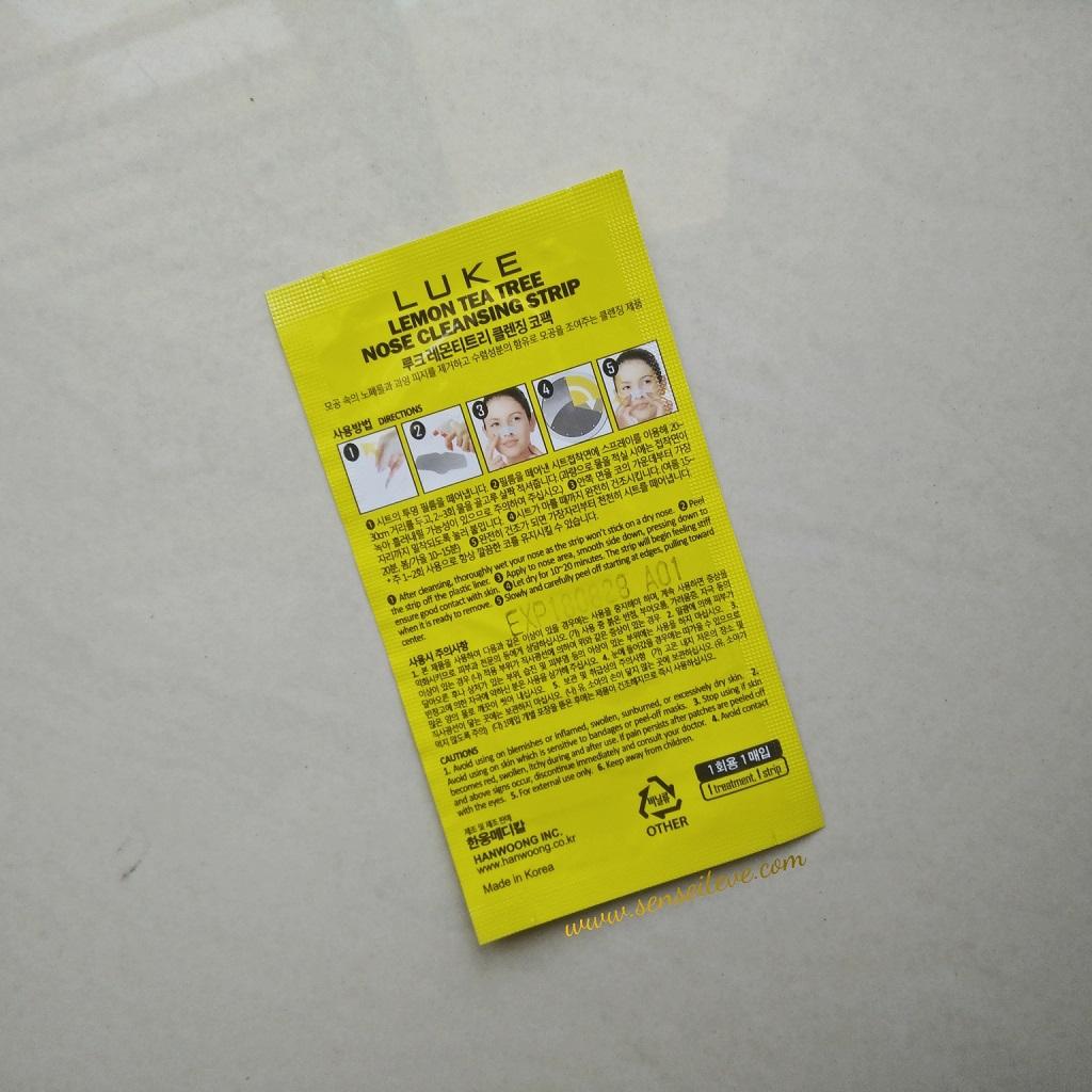 Skin 18 Lemon Tea Tree Nose Cleansing Strip