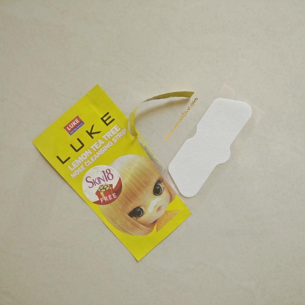 Skin 18 Luke Lemon Tea Tree Nose Cleansing Strip
