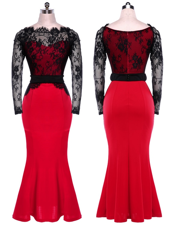 Women Lace Formal Ball Prom Evening Party Cocktail Dress