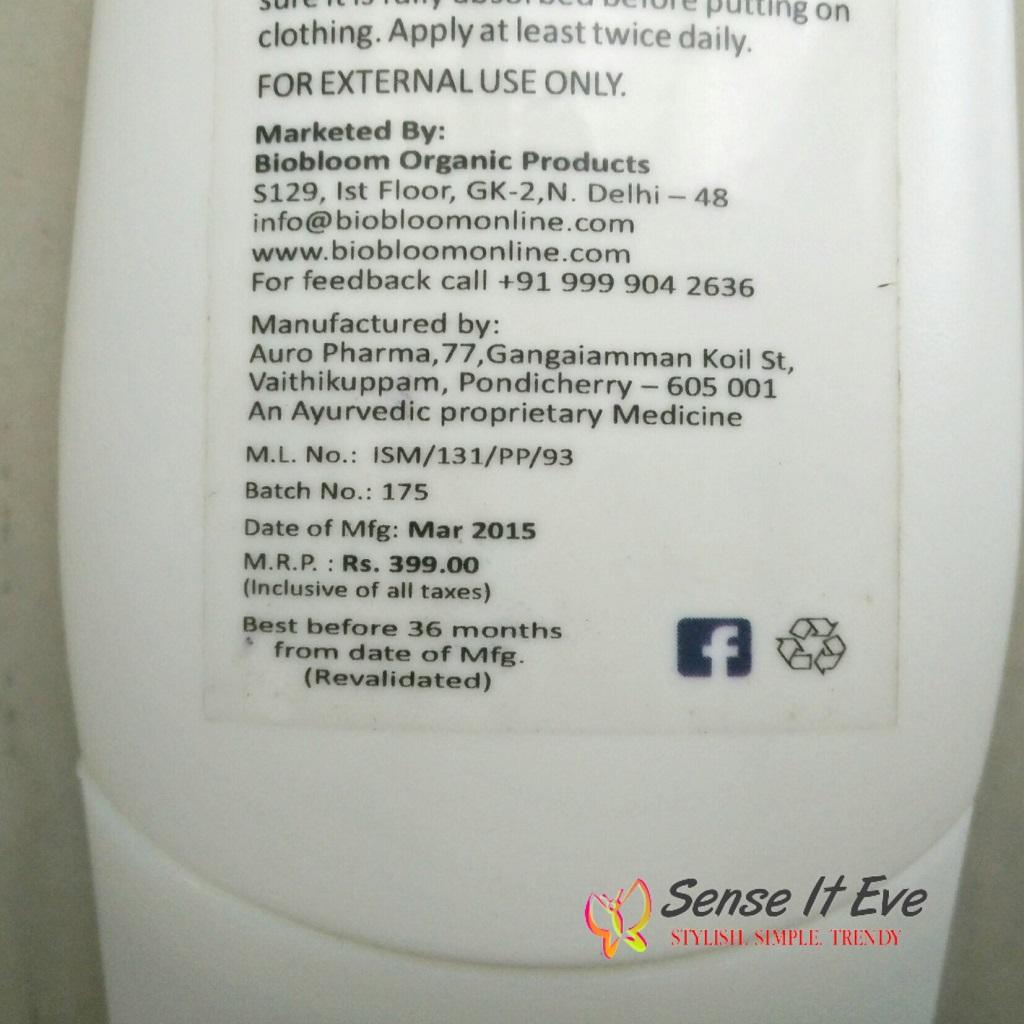 Bio Bloom Skin Care Moisturizer Almond Milk Price & quantity in India