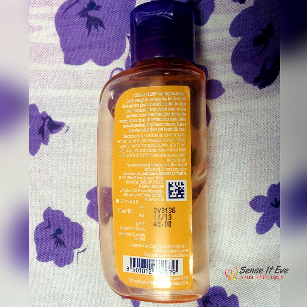 Clean & Clear Foaming Facial Wash