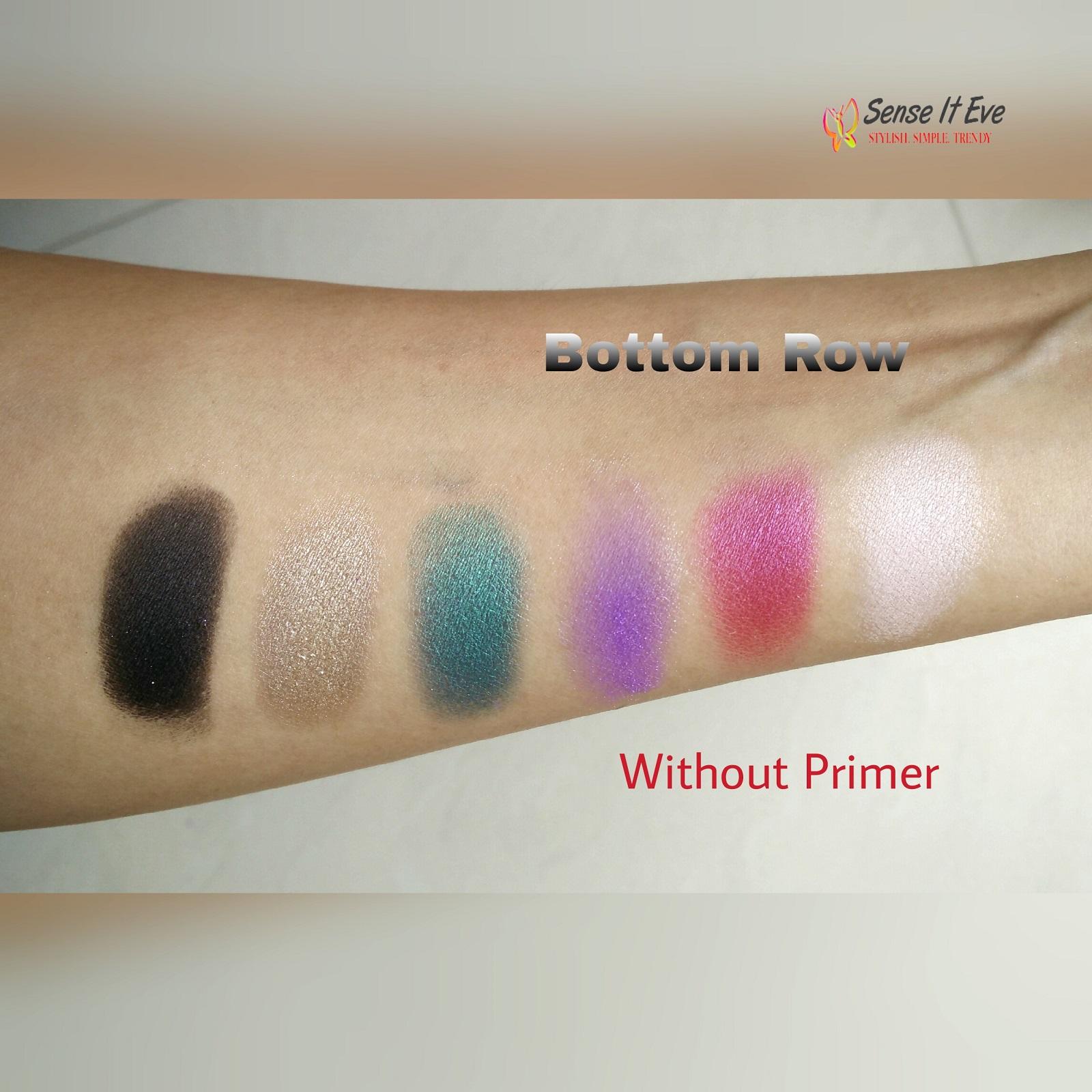 mua-glamour-nights-eye-shadow-palette-swatches-bottom-row-without-primer