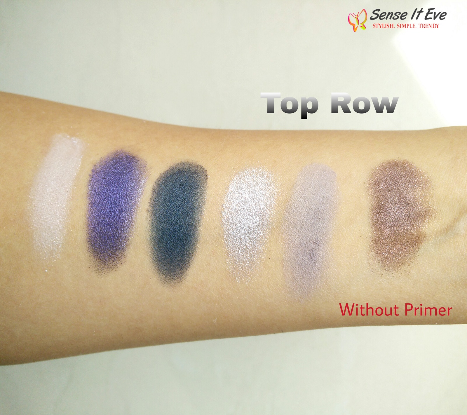 mua-glamour-nights-eye-shadow-palette-swatches-top-row-without-primer