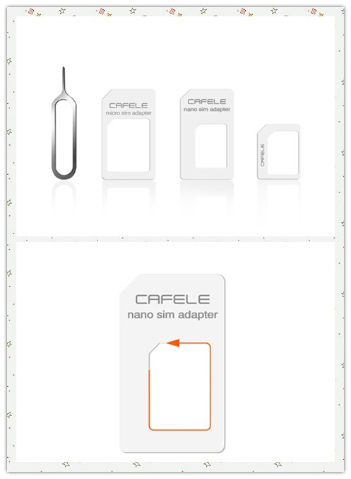 CAFELE 4 in 1 SIM Card Adapter Micro + Dual Nano Kit with Eject Pin