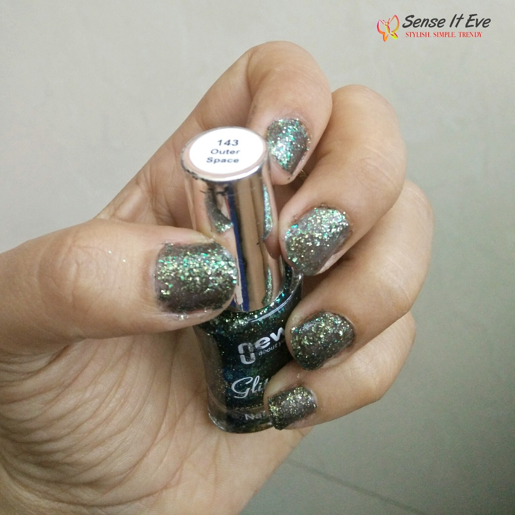 NewU Glitterati Nail Enamel 143 Outer Space : Review & Swatches