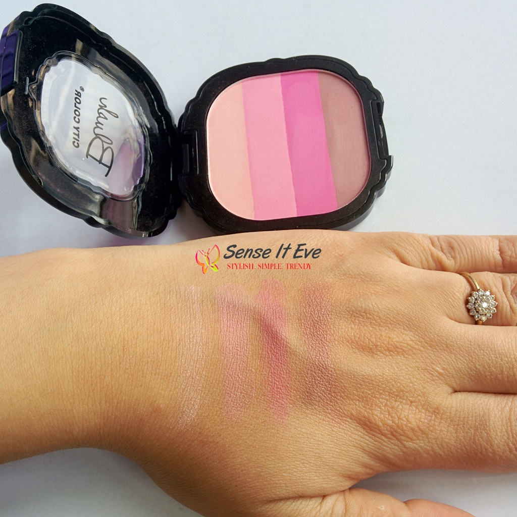 City Color Intense Blush Quad Pinks : Review & Swatches